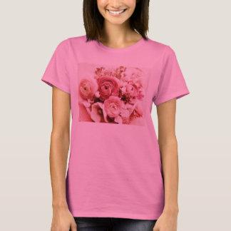 Pastel pink flowers long-sleeve t-shirt