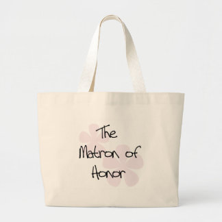 Pastel Pink Flowers Matron of Honor Tote Bags