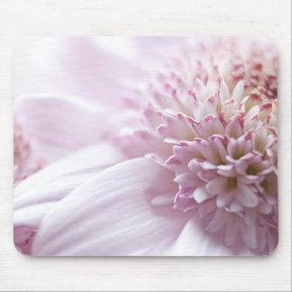 Pastel Pink Flowers Mouse Pad