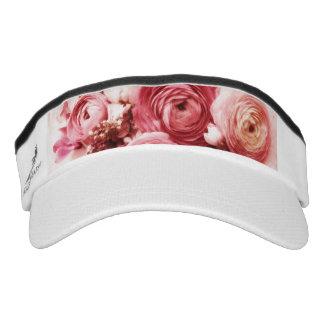 Pastel pink flowers visor