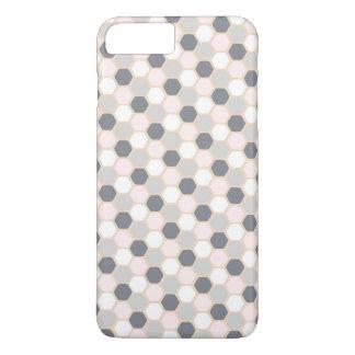 Pastel Pink Geometric Hexagon iPhone 7 PLUS + Case