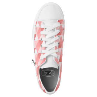 Pastel pink geometric triangles pattern Low-Top sneakers
