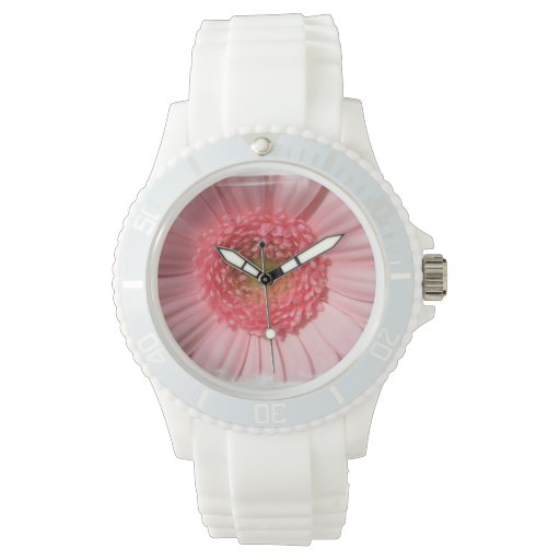 Pastel Pink Gerbera Daisy Watches