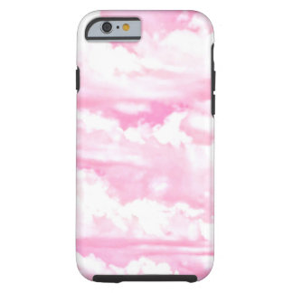 Pastel Pink Girly Clouds Decor Tough iPhone 6 Case