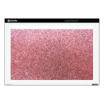 "Pastel pink glitter decal for 17"" laptop"