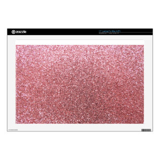 Pastel pink glitter decals for laptops