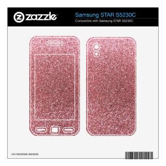 Pastel pink glitter samsung STAR S5230C skin