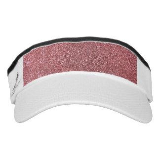 Pastel pink glitter headsweats visors