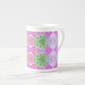 pastel pink green fractal specialtymug