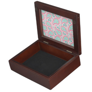 Pastel Pink & Green Paisley Memory Boxes