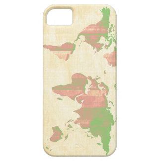 Pastel Pink Green Stripes Map iPhone SE/5/5s Case