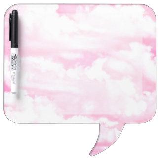 Pastel Pink Happy Clouds Decoration Dry-Erase Board