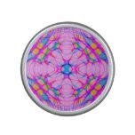 Pastel Pink Kaleidoscope Pattern Abstract Bluetooth Speaker