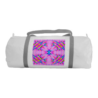 Pastel Pink Kaleidoscope Pattern Abstract Duffle Bag