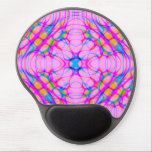 "Pastel Pink Kaleidoscope Pattern Abstract Gel Mouse Pad<br><div class=""desc"">Pretty pastel pink,  blue,  and yellow swirls of lines that look like beams of light create a diffraction abstract reminiscent of a kaleidoscope pattern.</div>"