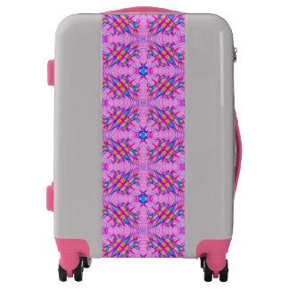 Pastel Pink Kaleidoscope Pattern Abstract Luggage