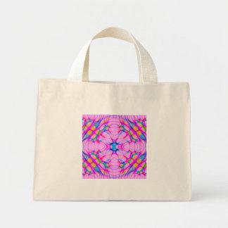 Pastel Pink Kaleidoscope Pattern Abstract Mini Tote Bag