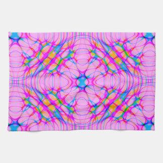 Pastel Pink Kaleidoscope Pattern Abstract Towel