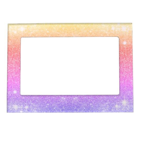 Pastel Pink Lavender Gold Glitter Sparkle Magnetic Picture Frame ...
