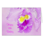 Pastel Pink Orchid 16th Birthday Card