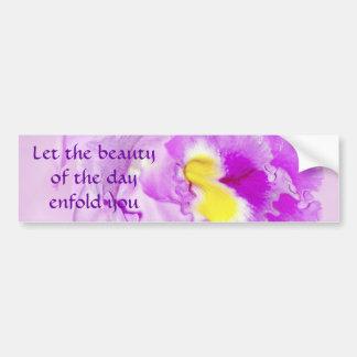 Pastel Pink Orchid Bumper Sticker
