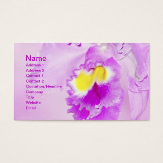 Pastel Pink Orchid Flower Business Card