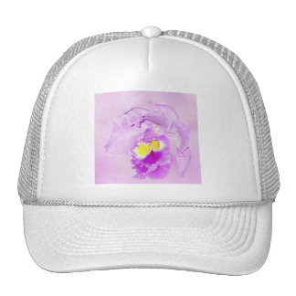 Pastel Pink Orchid Trucker Hat
