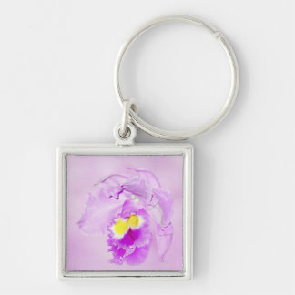 Pastel Pink Orchid Keychain