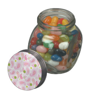 Pastel Pink Paisely Jelly Belly Candy Jars