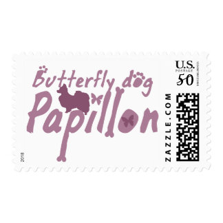 Pastel Pink Papillon Postage Stamps