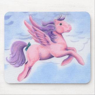 Pastel Pink Pegasus Mouse Pad