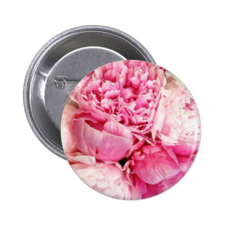 Pastel Pink Peony Flower Button