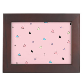 Pastel Pink Pieces Candy Chips Geometric Triangles Memory Boxes