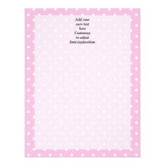 Pastel pink polka dot pattern letterhead design