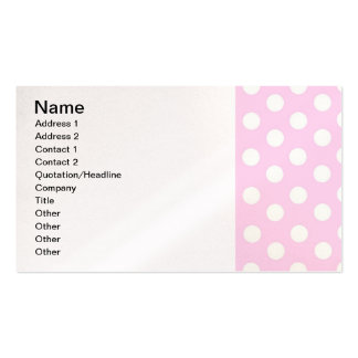 Pastel Pink Polka Dots Business Card Template