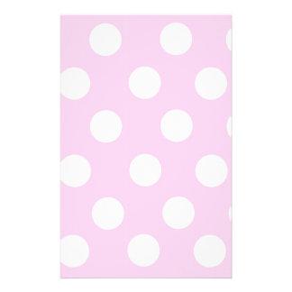 Pastel Pink Polka Dots Custom Stationery