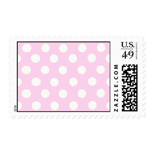 Pastel Pink Polka Dots Postage Stamps