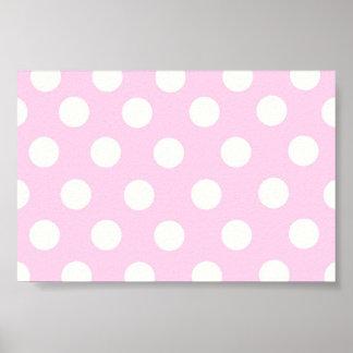 Pastel Pink Polka Dots Poster
