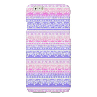 Pastel Pink Purple Girly Aztec Savvy iPhone 6 Case Glossy iPhone 6 Case