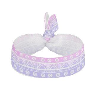 Pastel Pink Purple Girly Aztec Tribal Hair Tie