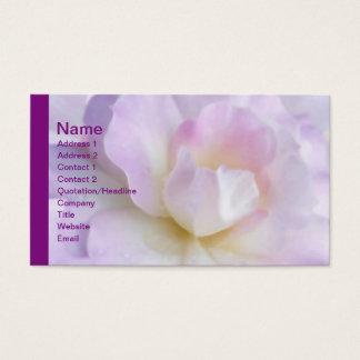 Pastel Pink Purple Rose Business Card