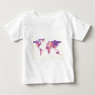 Pastel Pink Purple Stripes Map Baby T-Shirt
