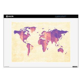Pastel Pink Purple Stripes Map Skins For Laptops