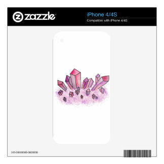 Pastel Pink Purple Watercolor Crystal Cluster iPhone 4 Decal