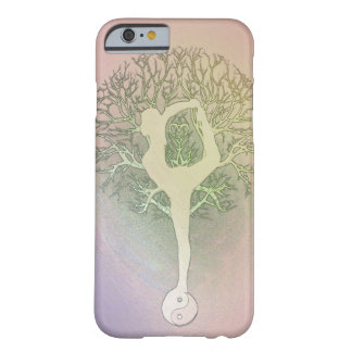 Pastel Pink Rainbow Yoga Tree Barely There iPhone 6 Case