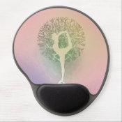 Pastel Pink Rainbow Yoga Tree Gel Mouse Pad (<em>$13.70</em>)