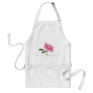 Pastel Pink Rose Adult Apron