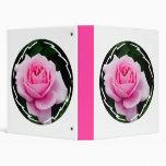 Pastel Pink Rose Binder