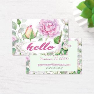 Pastel Pink Rose Business Card