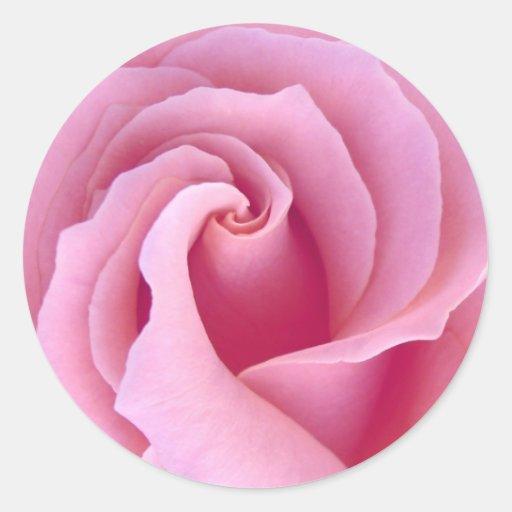 PASTEL PINK Rose - Wedding Envelope Seal Classic Round Sticker